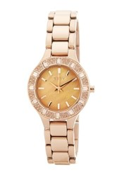 Dkny Women's Chambers Bracelet Watch Yellow