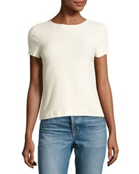 Helmut Lang Short Sleeve Stretch Terry Tee Ivory