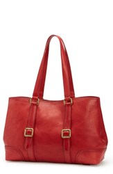 Frye Claude Leather Tote Red
