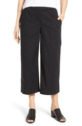 Eileen Fisher Women's Stretch Organic Cotton Crop Wide Leg Pants