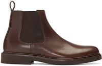 A.P.C. Brown Grant Chelsea Boots