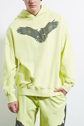 Forever 21 Private Academy Eagle Hoodie Yellow