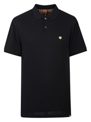 Pretty Green Smiley Short Sleeve Polo Top Black