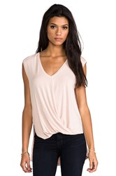 Bcbgmaxazria V Neck Drape Top Blush
