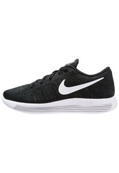 Nike Performance Lunarepic Flyknit Cushioned Running Shoes Black White Anthracite