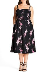 City Chic Plus Size Women's Holiday Romance Sundress Baby Orchid