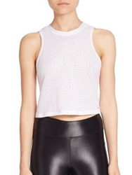 Koral Muscle Cropped Tank Top White