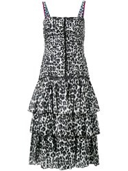 Marc Jacobs Leopard Print Dress Black
