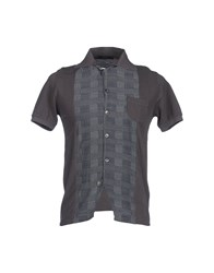 Vneck Shirts Short Sleeve Shirts Men Dark Blue
