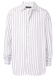 Y Project Striped Shirt Jacket White