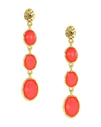 Sparkling Sage Oval Stone Drop Earrings Compare At 63 Gold Pink