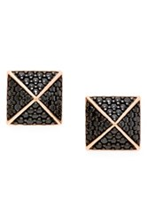 Sugar Bean Jewelry Pave Pyramid Stud Earrings Nordstrom Exclusive Black