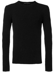 Daniele Alessandrini Perfectly Fitted Sweater Black