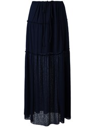 See By Chloe Pleated Maxi Skirt Black
