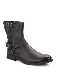 Robert Wayne Easton Buckle Leather Boots Black