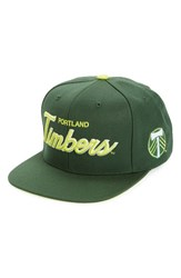 Men's Mitchell And Ness 'Portland Timbers Special Script' Snapback Baseball Cap