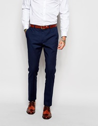 Asos Skinny Fit Suit Trousers Navy