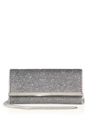 Jimmy Choo Milla Lame Convertible Wallet Anthracite