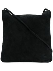 Guidi Square Zipped Shoulder Bag Horse Leather Black