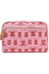 Aerin Beauty Johanna Ortiz Medium Printed Canvas Cosmetic Case Pink