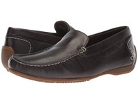 Hush Puppies Schnauzer Slip On Dark Brown Leather Shoes