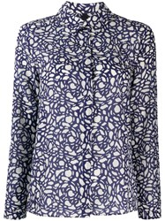 Sara Lanzi Graphic Print Shirt Blue