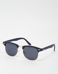 Asos Clubmaster Sunglasses With Blue Top