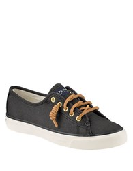 Sperry Seacoast Canvas Sneakers Black