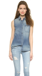 Ag Jeans Meadows Sleeveless Shirt Offshore