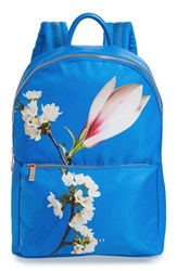 Ted Baker London Harmony Print Backpack Blue Bright Blue