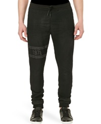 Buffalo David Bitton Zoltan X Stretch Jogger Pants Worn And Dry Black