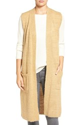 Echo Women's Knit Long Vest Camel