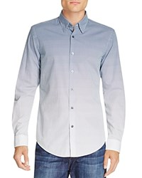 Boss Rodney Ombre Grid Slim Fit Button Down Shirt Blue