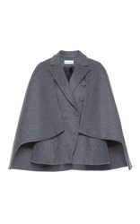 Dice Kayek Double Breasted Wool Cape Grey