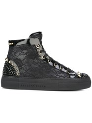Philipp Plein Ocean Drive Hi Top Sneakers Black