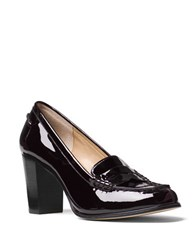 Michael Michael Kors Bayville Patent Leather Penny Keeper Loafers Plum