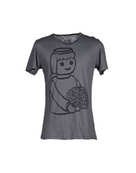 Mary Cotton Couture Topwear T Shirts Men Grey