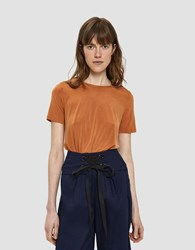 Which We Want Thalia Short Sleeve Top In Pumpkin