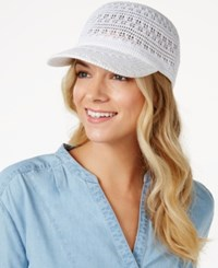 Inc International Concepts Crochet Packable Baseball Cap Only At Macy's White