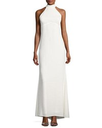 Marina Halter Neck Open Back Gown Ivory