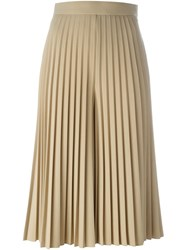 Givenchy Pleated Culottes Nude And Neutrals