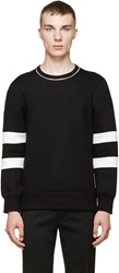 Neil Barrett Black Quilted Zipper Sweater