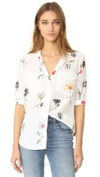 Equipment Ansley Button Down Blouse Bright White Multi