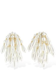 Ca And Lou Artemisia Chandelier Clip On Earrings Gold