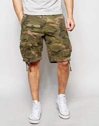 Abercrombie And Fitch Cargo Short In Camo Dark Camo Green