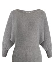 Chloe Round Neck Cashmere Sweater Grey