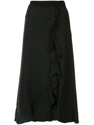 Giambattista Valli Ruffle Trimmed Skirt Black
