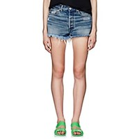 Off White C O Virgil Abloh Denim Cutoff Shorts White