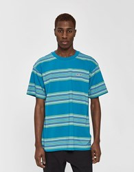 Obey S S Route Classic Tee In Pure Teal Multi