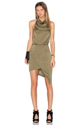 Elliatt Camo Dress Green